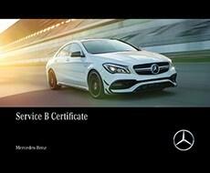 Mercedes-Benz Service B Certificate