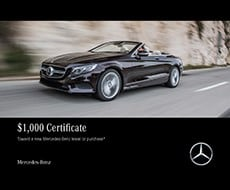 Mercedes-Benz $1000 Toward Lease or Purchase