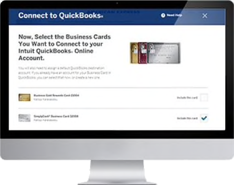Connect to QuickBooks from American Express