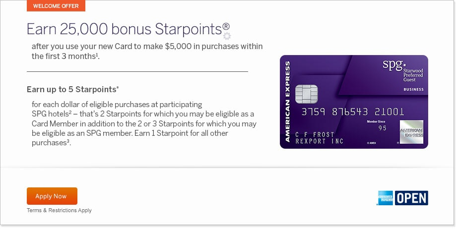 Starwood preferred guest business credit card from american express starwood preferred guest business credit card from american express not a business owner earn up to 30000 starpoints earn 10000 starpoints after colourmoves