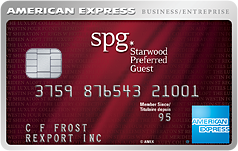 The Starwood Preferred Guest®* Business Card from American Express