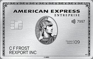 Carte de Platine entreprise<sup>MD</sup> d'American&nbsp;Express