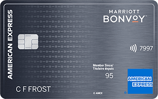 Carte Marriott Bonvoy<sup>MC</sup> American Express<sup>MD</sup>