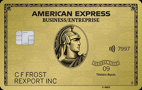 Carte en Or pour PME avec primes American&nbsp;Express<sup>MD</sup>