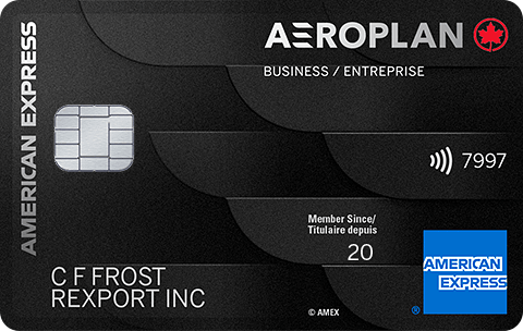Carte Prestige Aéroplan<sup>MD*</sup> entreprise American Express<sup>MD</sup>