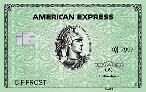 Carte Verte AmericanExpress<sup>MD</sup>
