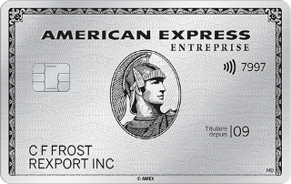 Carte de Platine entreprise d'AmericanExpress