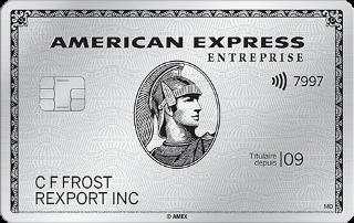 Carte de Platine entrepriseᴹᴰ d'American Express