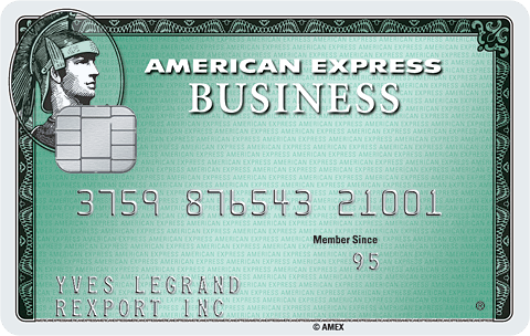 Carte Business Green American Express