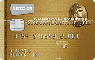 Carte affaires AéroplanPlus AmericanExpress