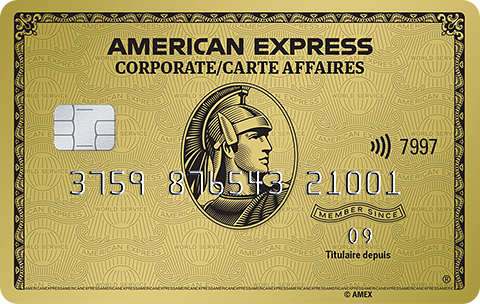 Carte affaires en Or American Express