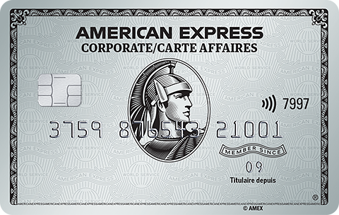 Carte affaires de Platine American Express