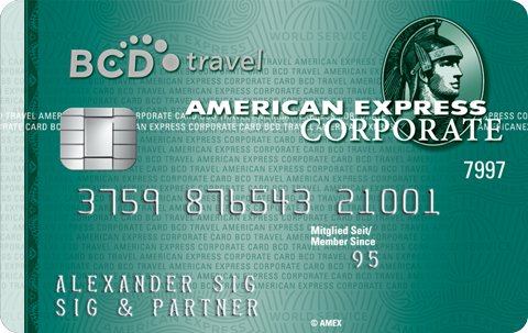 American Express BCD Travel Corporate Card