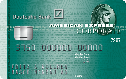 American Express Deutsche Bank Corporate Card