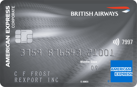 British Airways American Express Corporate Card