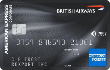 British Airways American Express Corporate Card Plus