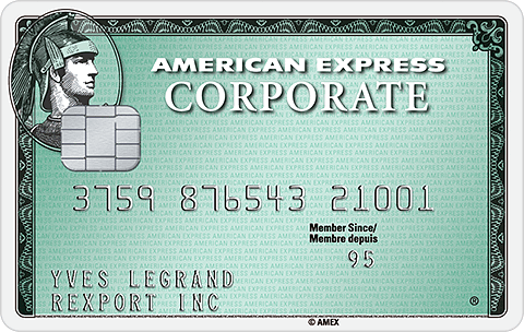 Carte Corporate Green American Express