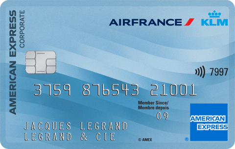 Carte Corporate AIR FRANCE AMERICAN EXPRESS