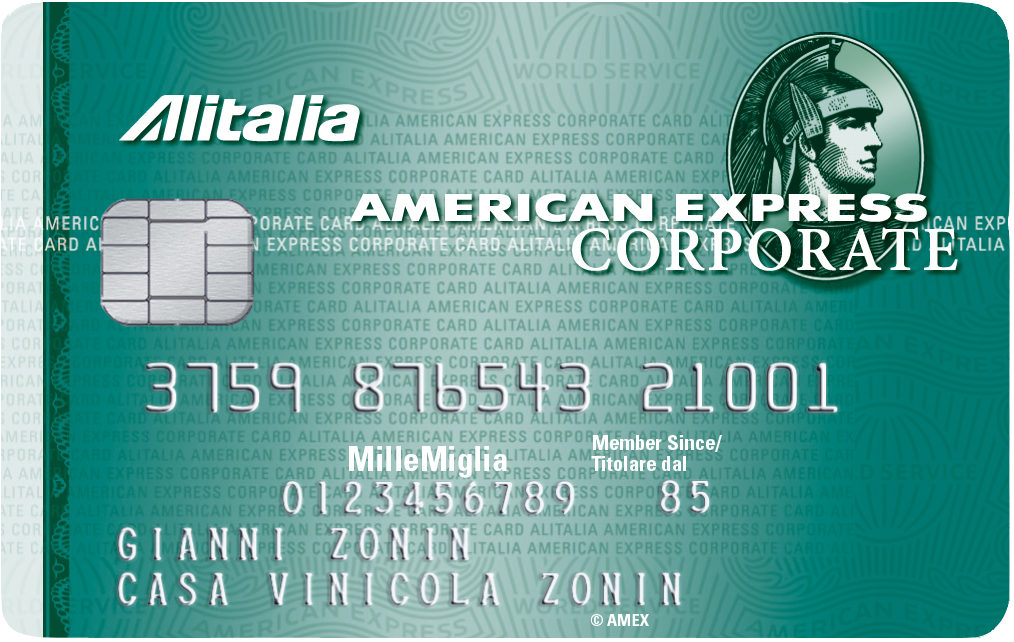 Carta Corporate Alitalia American Express