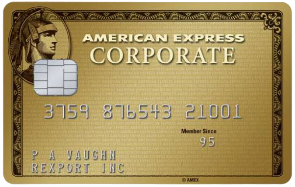 Carta Corporate Oro American Express