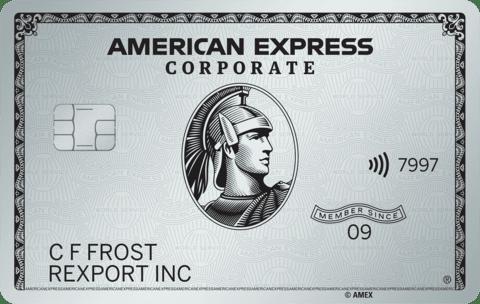 Carta Corporate Platino AmericanExpress