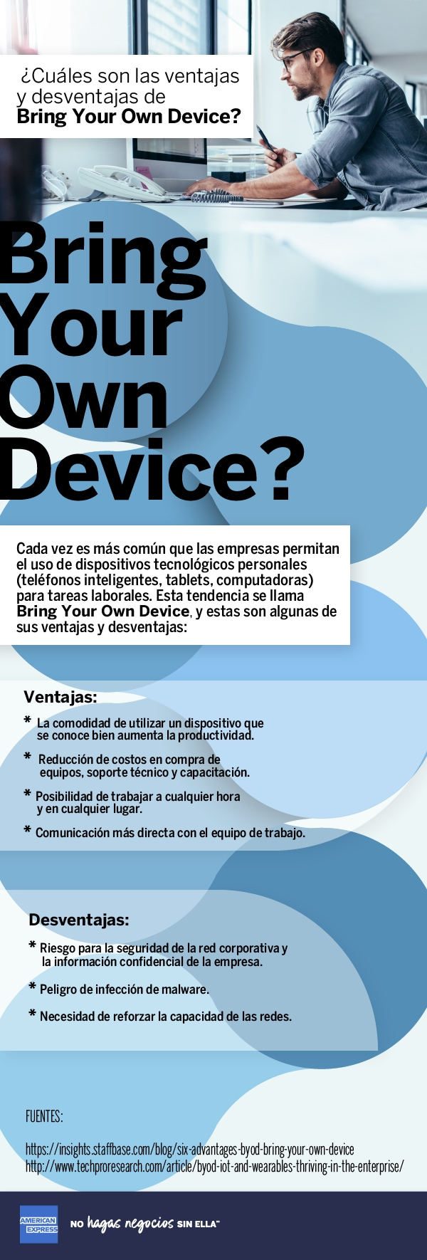 ¿Cuáles son las ventajas y desventajas de Bring Your Own Device?