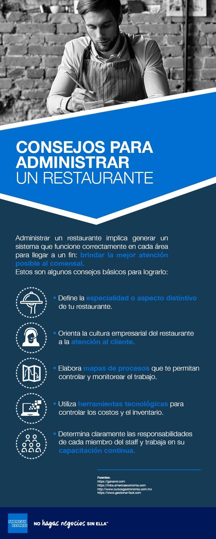 ¿Cómo administrar un restaurante?