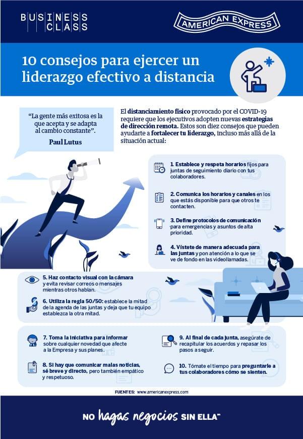 INFOGRAFÍA: 10 consejos para ejercer un liderazgo efectivo a distancia