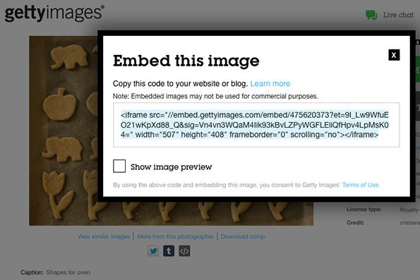 Getty Images Embed Code