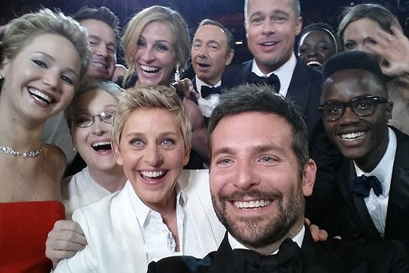 86th Annual Academy Awards Ellen DeGeneres snapped a selfie