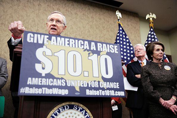 Reid, Pelosi, Labor Secretary Perez Hold Event With Raise The Wage Coalition