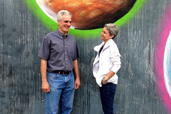 Julie Weissend, co-owner with her husband, Paul, of Dovetail Construction