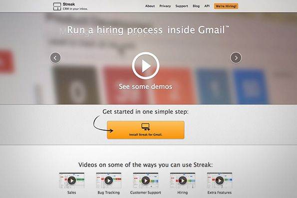 Streak, a plugin that adds some serious CRM capabilities to Gmail
