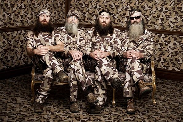 The Robertson Family from Duck Dynasty