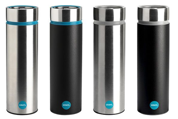Grayl.  A sleek, compact design for a water bottle that filters your drinking water in seconds.