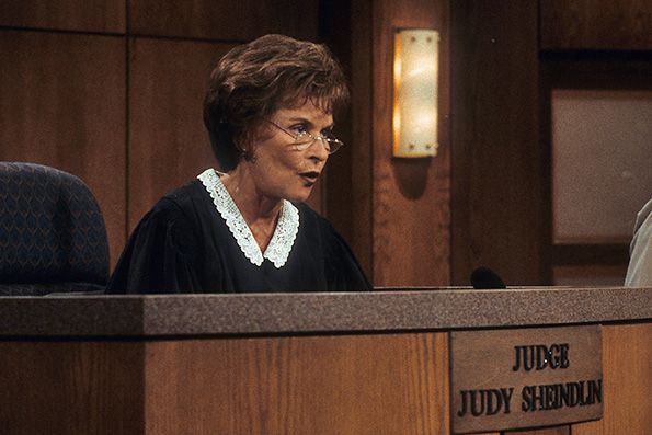 Judith Sheindlin on Set Judge Judy