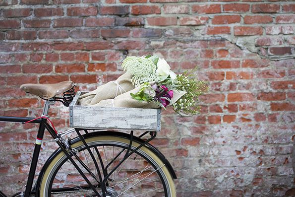 "BloomThat, which the founders call the ""Uber of flowers"" was born. The company, which currently serves only the greater San Francisco market, delivers artfully arranged and reasonably priced bouquets, wrapped in burlap, via bike messenger within 90 minutes of an order being placed."