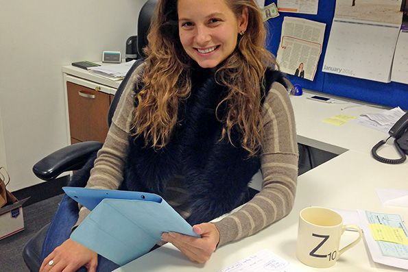 Zoe Barry, the 29-year-old founder of Cambridge-based ZappRx