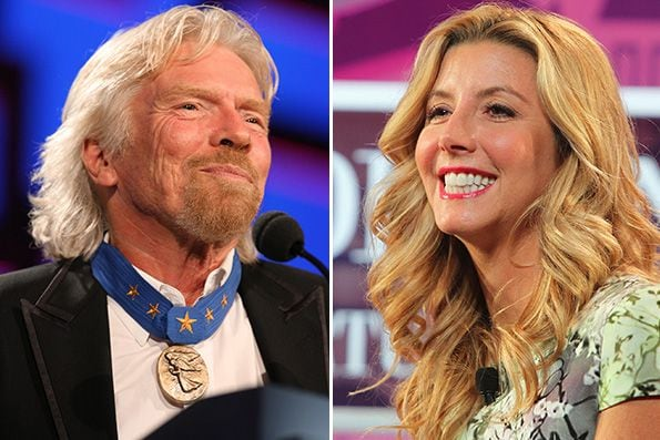 Sir Richard Branson and Sara Blakely