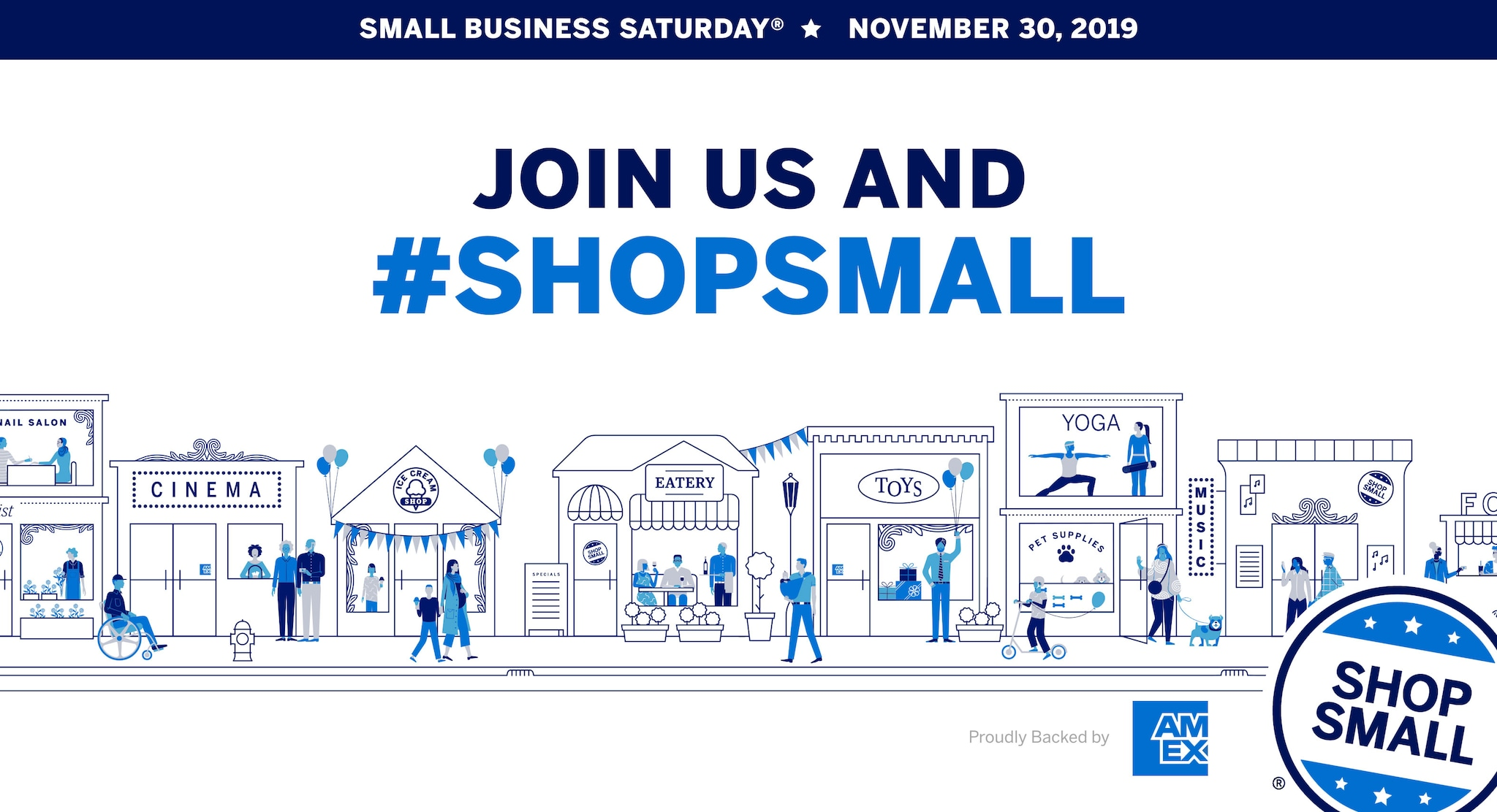 2020 Small Business Saturday.Small Business Saturday Shop Local With American Express